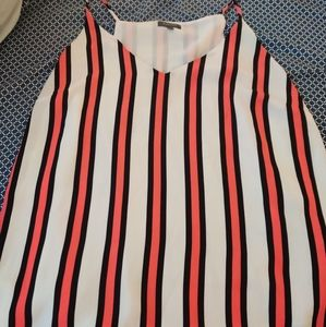 Striped dressed up Tank top plus size